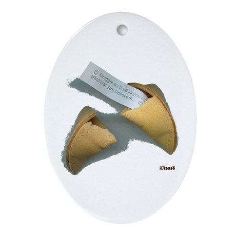 Good Fortune Cookie Keepsake (Oval)