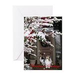 Sheltie Front Door Christmas Greeting Card