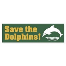 SAVE-THE-DOLPHINS Bumper Bumper Sticker