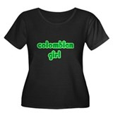 Colombian Girl Cute Women's Plus Size Scoop Neck D