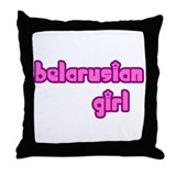 Belarusian Girl Cute Throw Pillow