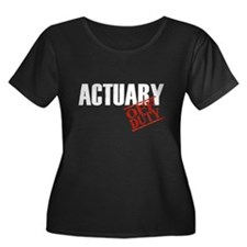 Off Duty Actuary Women's Plus Size Scoop Neck Dark