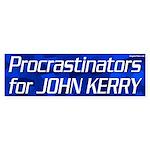 Procrastinators for Kerry bumper sticker