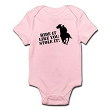 Ride it like you stole it! Horse racing Infant Bod