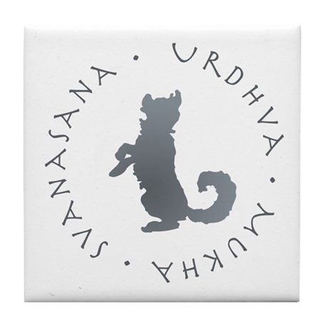Upward Facing Dog Tile Coaster