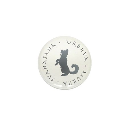 Upward Facing Dog Mini Button (10 pack)