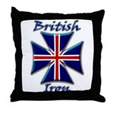 British Iron Maltese Cross   Throw Pillow