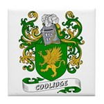 Coolidge Coat of Arms Tile Coaster