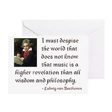 Beethoven--Music as Revelation Greeting Cards (Pk