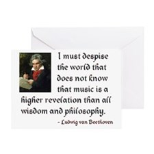 Beethoven--Music as Revelation Greeting Card