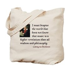Beethoven--Music as Revelation Tote Bag