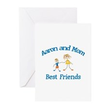 Aaron& Mom - Best Friends  Greeting Cards (Pk of 1