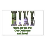 Go For A Hike Rectangle Sticker