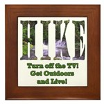 Go For A Hike Framed Tile