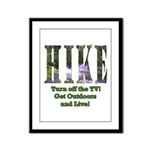 Go For A Hike Framed Panel Print