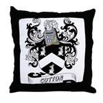 Cotton Coat of Arms Throw Pillow