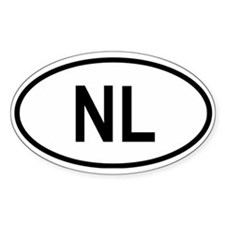Netherlands (Holland) Oval Decal