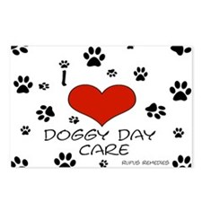I Love Doggy Day Care 3 Postcards (Package of 8)