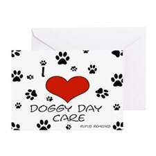 I Love Doggy Day Care 3 Greeting Card