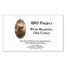 1890 Project Regaining Our Census Decal