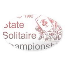 Solitaire Championship Oval Decal
