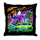Midnight Circus Throw Pillow