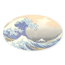 Great Wave Oval Decal