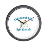 Kieran & Mom - Best Friends  Wall Clock