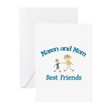Mason & Mom - Best Friends  Greeting Cards (Pk of