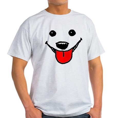 Happy Dog Face Light T-Shirt