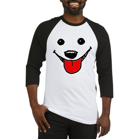 Happy Dog Face Baseball Jersey