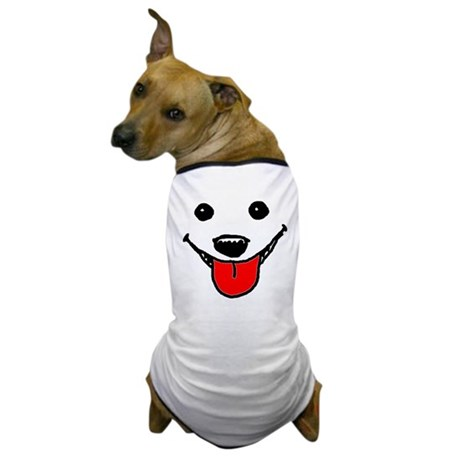 Happy Dog Face Dog T-Shirt