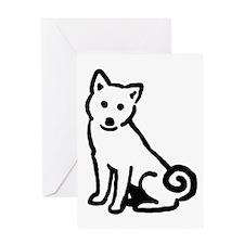 Shiba Sit Greeting Card