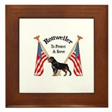 Rottweiler To Protect & Serve Framed Tile