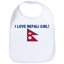 I LOVE NEPALI GIRLS Bib