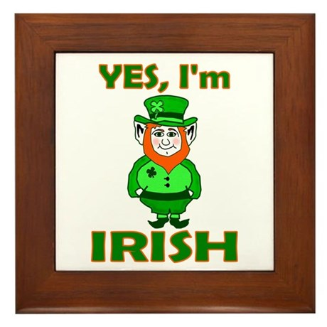 Yes I'm Irish Framed Tile