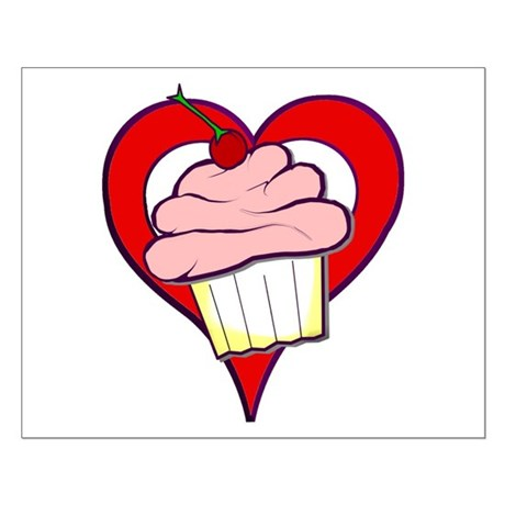 Valentine Cupcake Small Poster