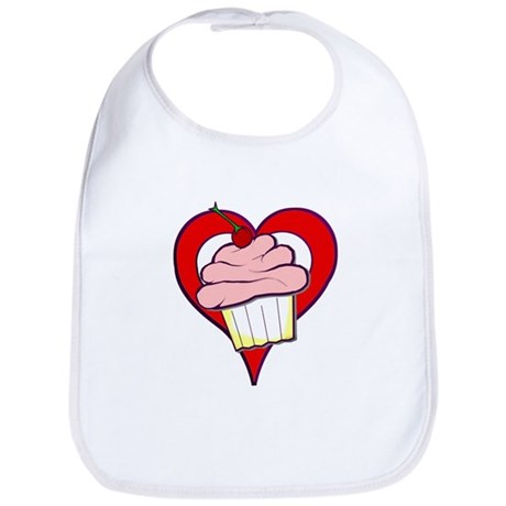 Valentine Cupcake Bib