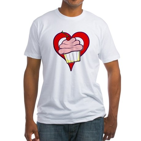 Valentine Cupcake Fitted T-Shirt