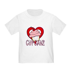 Valentine Cherry Cupcake Toddler T-Shirt