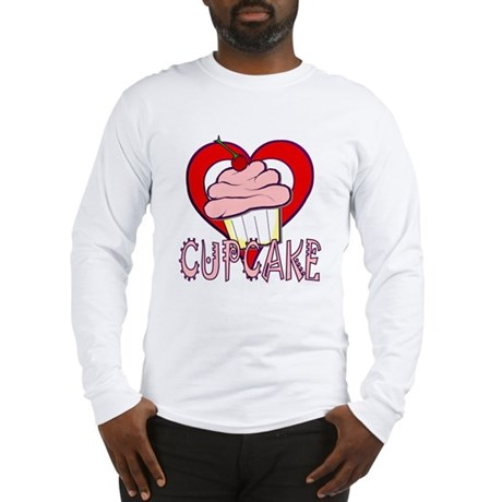 Valentine Cherry Cupcake Long Sleeve T-Shirt