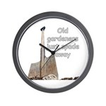 Old gardeners spade away Wall Clock