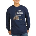 Old gardeners spade away Long Sleeve Dark T-Shirt