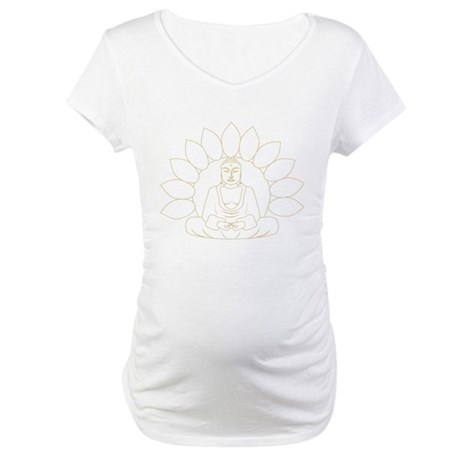 Lotus Buddha Maternity T-Shirt