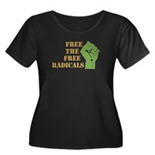 Free the Free Radicals Women's Plus Size Scoop Nec
