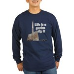 Life is a garden dig it Long Sleeve Dark T-Shirt
