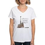 Life is a garden dig it Women's V-Neck T-Shirt