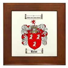 Ryan Coat of Arms Framed Tile