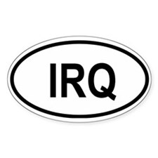 Iraq Oval Decal