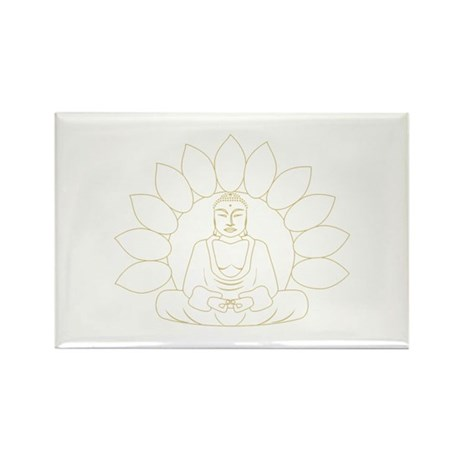Lotus Buddha Rectangle Magnet (100 pack)